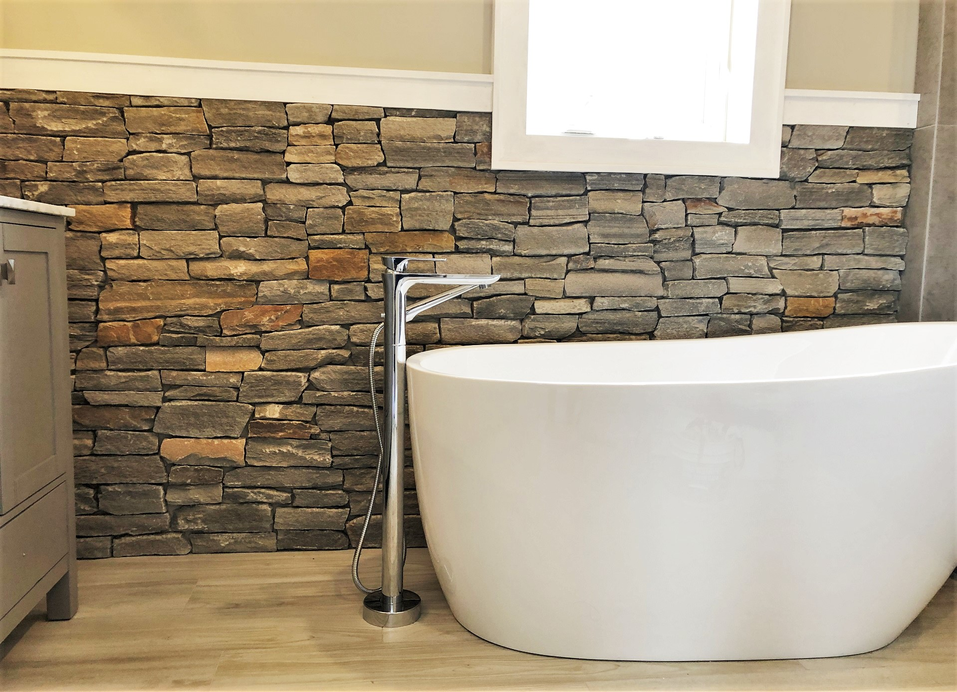 Mix It Up! Try Natural Stone Veneer In Your Bathroom!