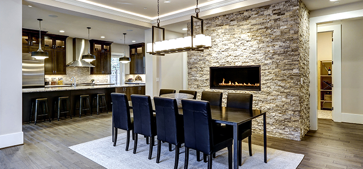 Choosing the perfect location for your stone accent wall