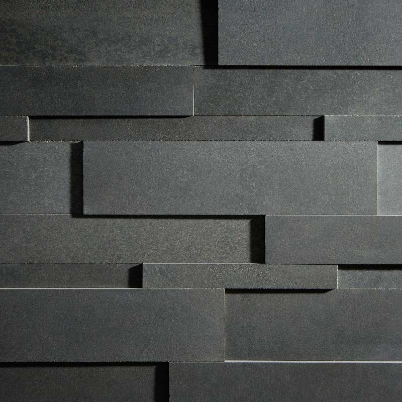 Charcoal Lavastone Strips - Regular by ErthCoverings