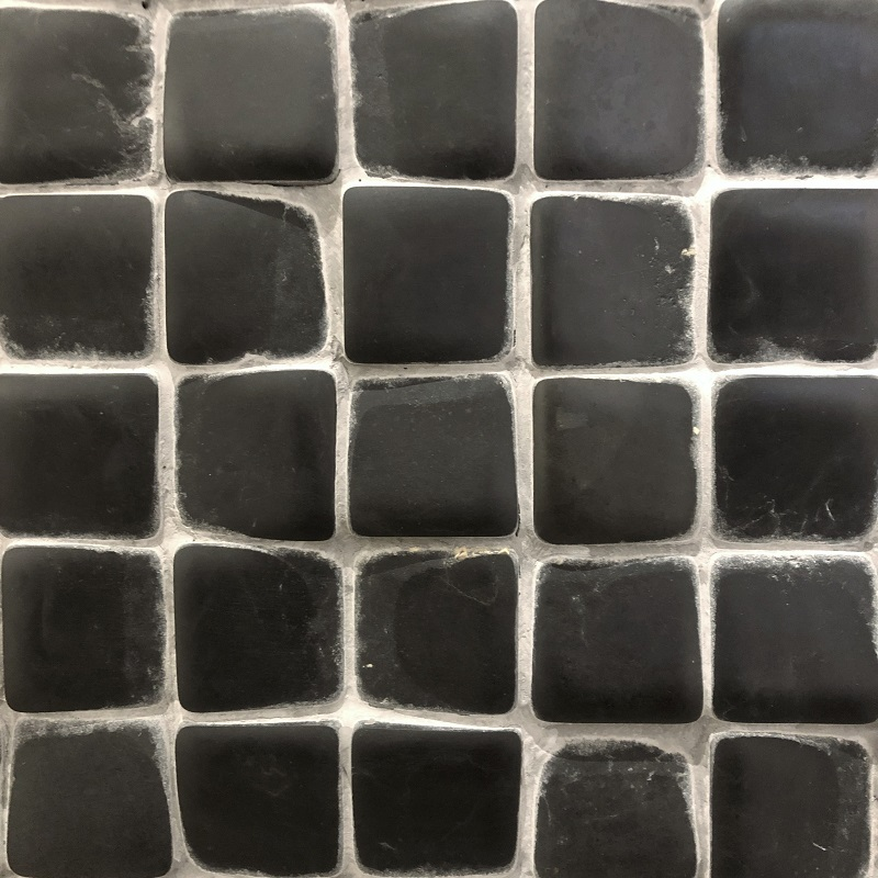 Black Nero Vanessa Timeworn Mosaics by ErthCoverings