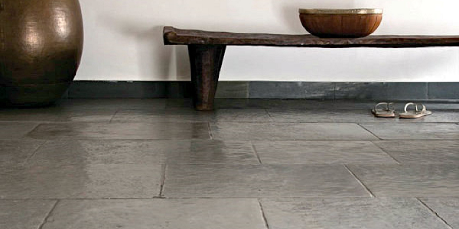 Historical Grey Tile - Timeworn by ErthCoverings